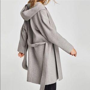 Brand New Zara Coat with Hood